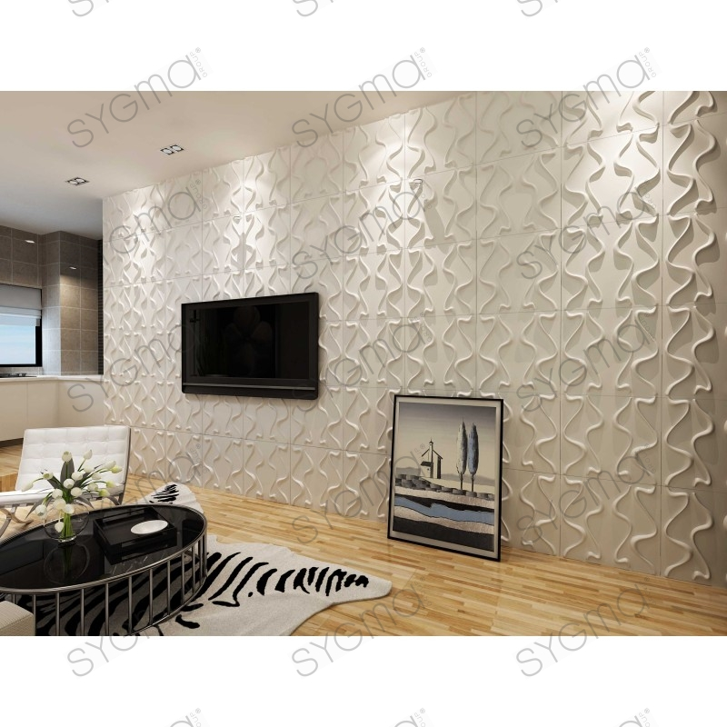 Panneau decoration murale 3d 1m2 pan 3d malm sygma group - Panneau decoration murale design ...