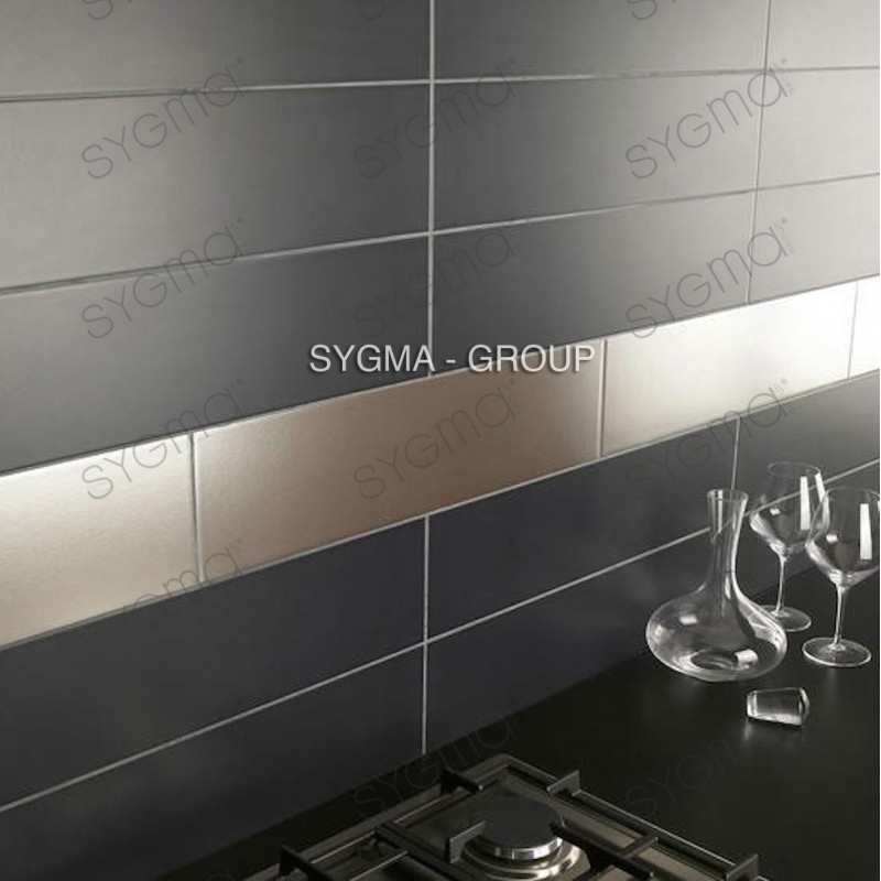 Carrelage inox pour credence cuisine mi lin sygma group for Modele credence en faience