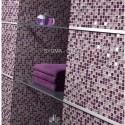 mosaico de vidro do chuveiro e casa de banho mv-har-vio