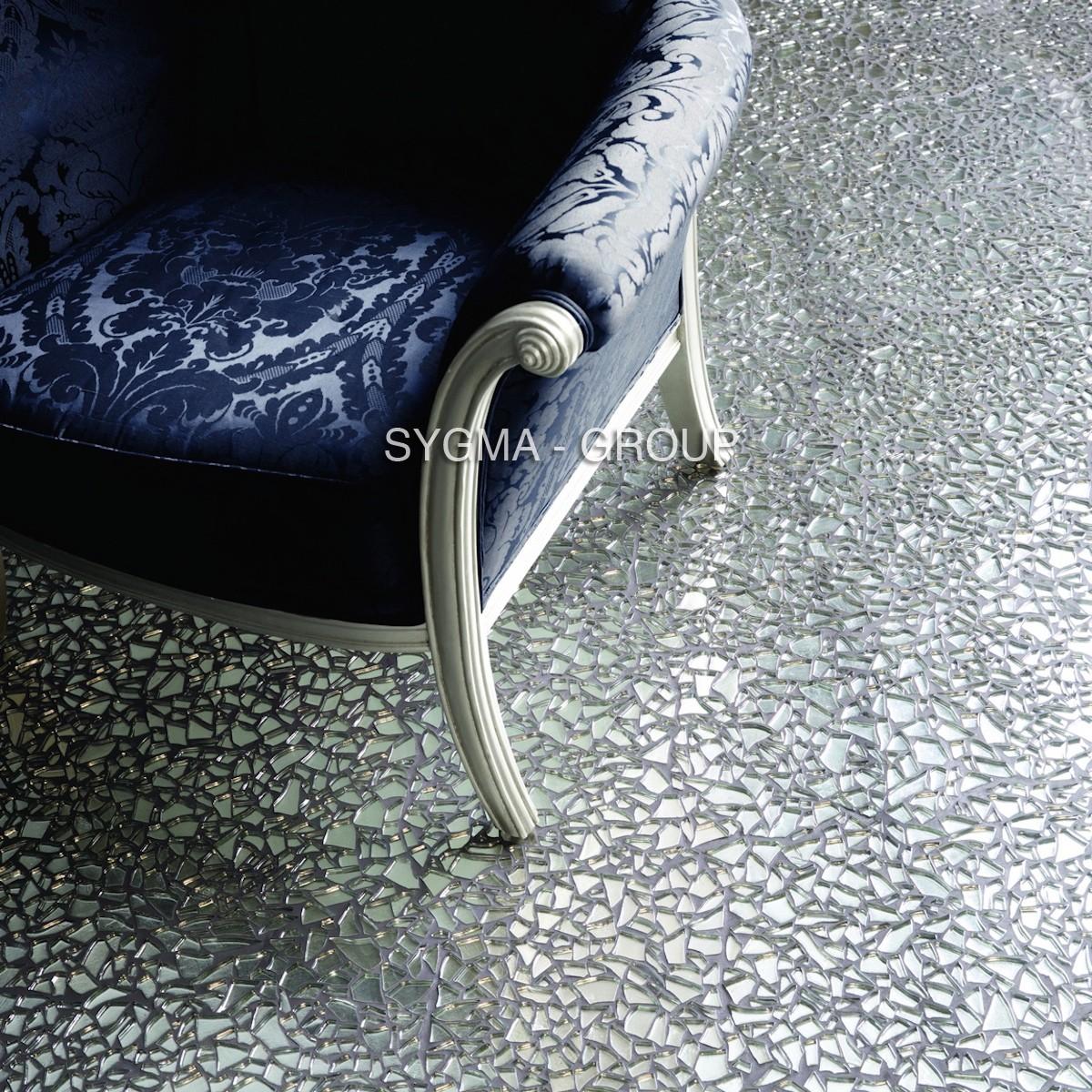 mosaique galet pour mur et sol en verre mv-osm-chr - Sygma Group
