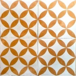 Zementfliesen für Wand und Boden der Sampa-orange