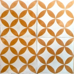 mosaico hidráulico para suelo y pared sampa-orange