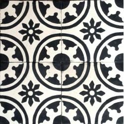 echte Fliese Zement für Bad und Küche 1m2 palma-noir