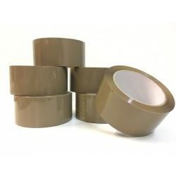 Rouleaux adhésif scotch lot de 6 pcs marron 5cm x 100m