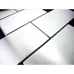 campione mosaico di acciaio inossidabile modelo cross