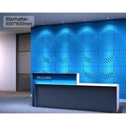 3d wall panel 1sqm pan-3d-manhattan
