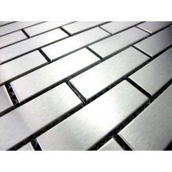 echantillon mosaique inox pour douche  credence cuisine brick 64