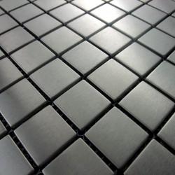 echantillon mosaique inox verre pierre aluminium