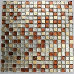 Glass mosaic tile and stone for bathroom Otika
