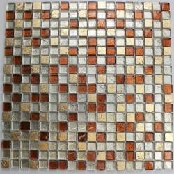 mosaico de vidro e pedra para o banheiro Otika