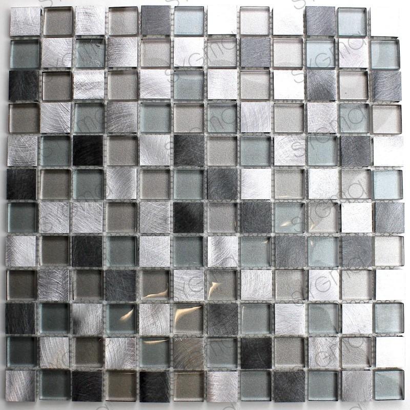 mosaico para banheiro e box de vidro e alumínio HEHO