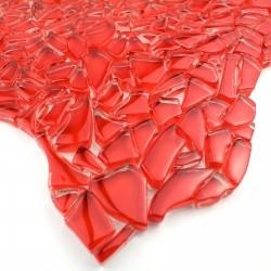 amostra de vidro em mosaico, piso e parede modelo mv-osmoserouge