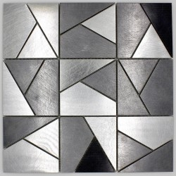 mosaic steel tiled metal for kitchen wall and bathroom in-sierra