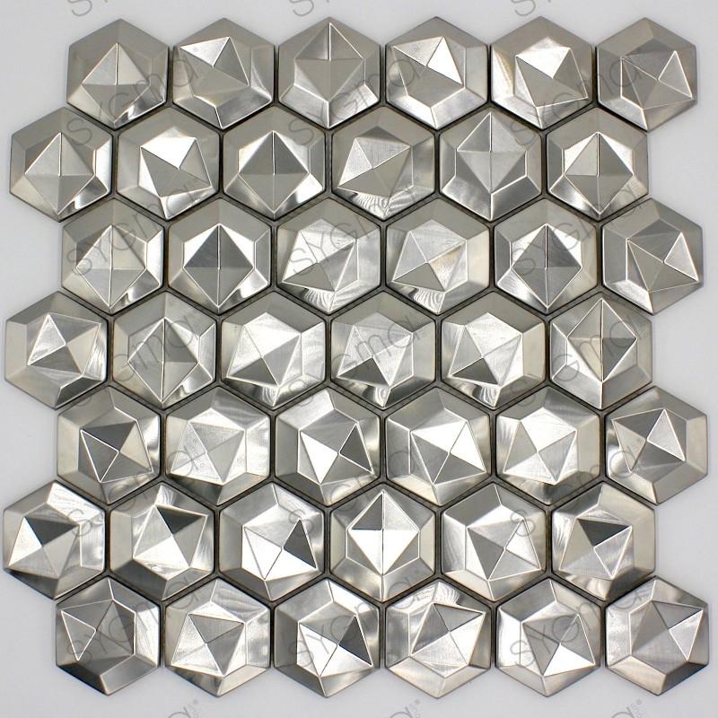 Acciaio in mosaico metallo piastrellato per la cucina e il bagno in dandelion sygma group - Mosaico per cucina ...