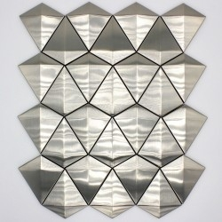 tiling and metal mosaic for wall in-arrow