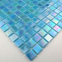 mosaico muestra suelo y pared de vidrio modelo mv-rainbowazur