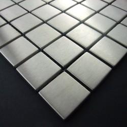 Edelstahl mosaik fliesen metal Küche und Bad mi-reg30