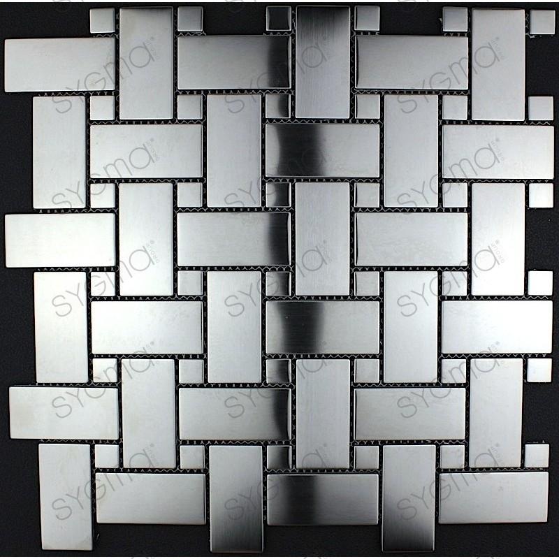 piastrelle mosaico in inox cucina e bagno mi-son - Sygma Group