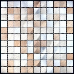 aluminium mosaic tiles kitchen ma-alu25-mar