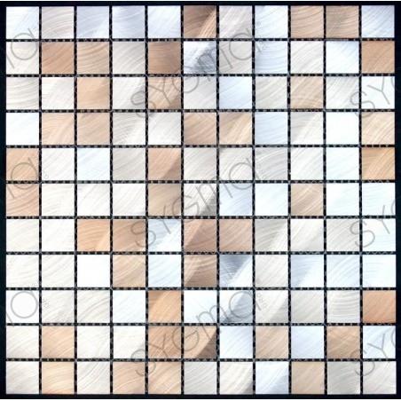 mosaico alumínio de metal cozinha ma-alu25-mar
