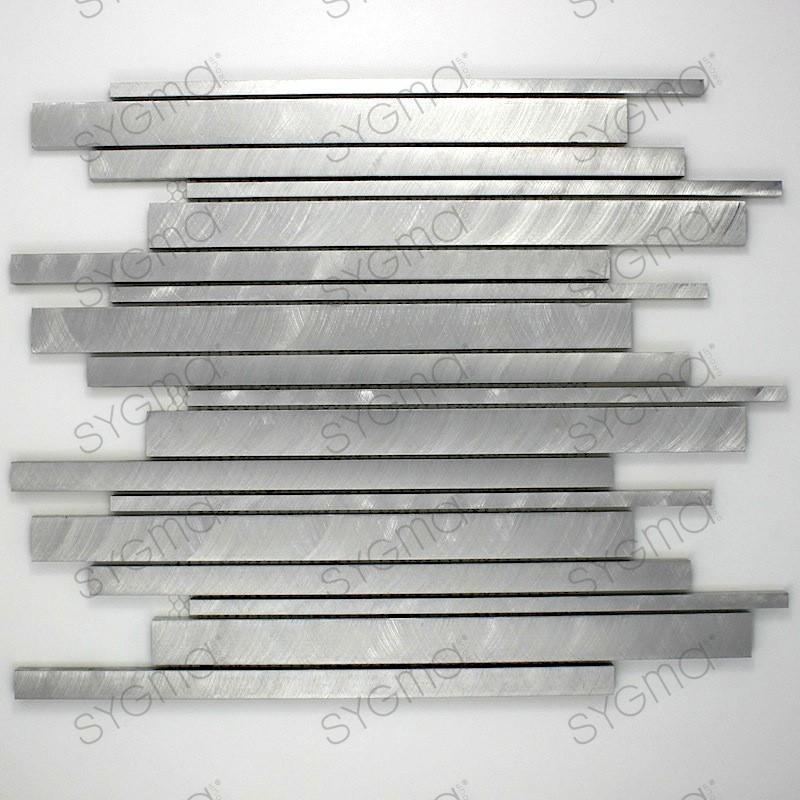 mosaico alluminio spazzolato metallo cucina ma-pha