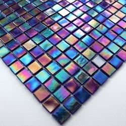 amostra de mosaico de vidro colar piso e parede mv-rainbow-petrol