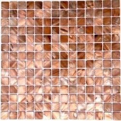 Fliesen und Mosaik in Perlmutt für Bad und Dusche odyssee-marron