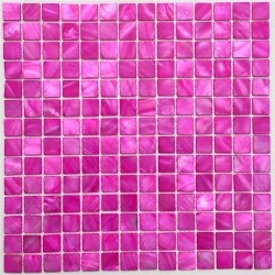mosaic tile in mother of pearl for bathroom and shower Nacarat Rose