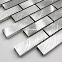 echantillon de carrelage et mosaique en metal aluminium alu-brique64