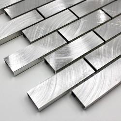 sample of tiling and mosaic in aluminum metal alu-brique64