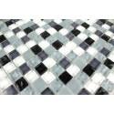 Muestra de mosaico de vidrio ba o y ducha opus noir - Muestras de banos ...