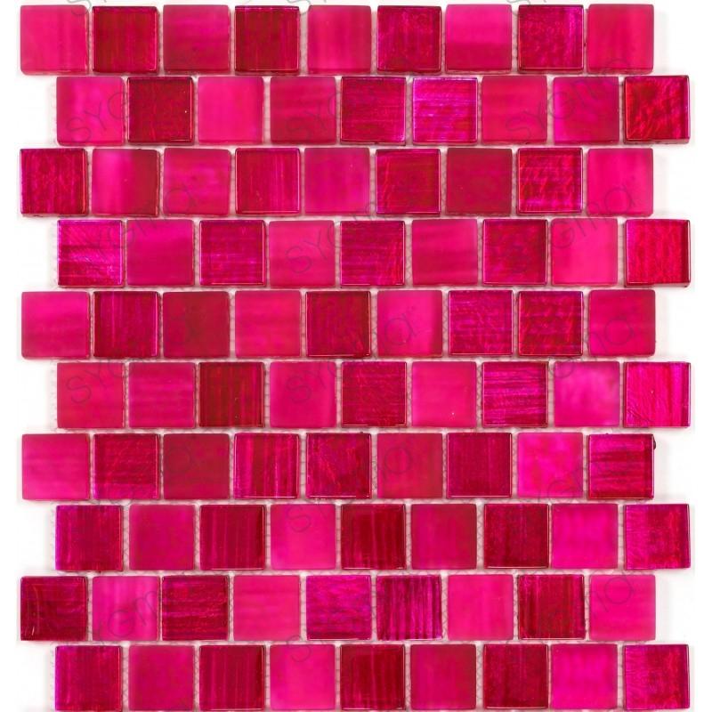 carrelage en verre mosaique mur et sol mv-drio-rose