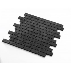 mosaic tile for wall black ceramic kitchen mp-boone
