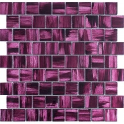 glass tile mosaic bathroom and kitchen drio-violet