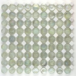 piastrelle bianche pavimento a mosaico e parete bagno mvp-icing