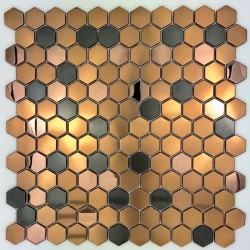 hexagonal tile stainless steel tile for floor and wall bathroom and kitchen mi-duncan