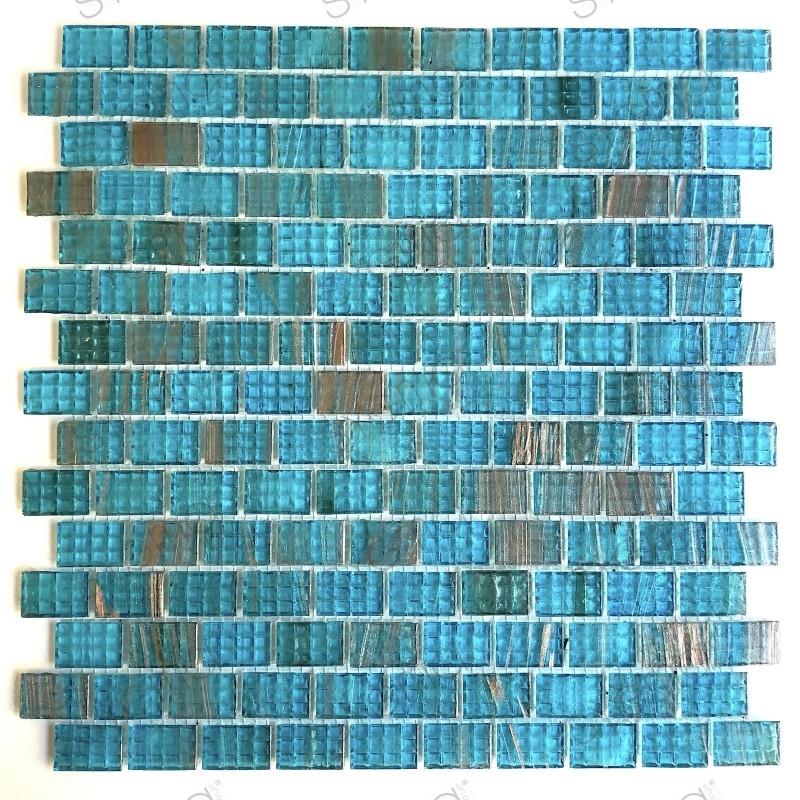 piastrelle del bagno mosaico blu per pareti e pavimenti pdv-kameko