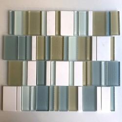Azulejo blanco piso y pared de malla mosaico baño mvp-icing