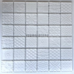 white glass tile wall or floor bathroom and kitchen mv-oskar