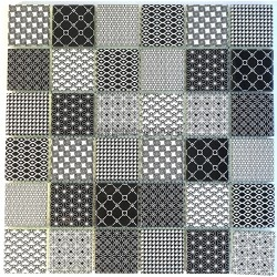 black pattern glass tile wall backsplash kitchen and bathroom mv-salax
