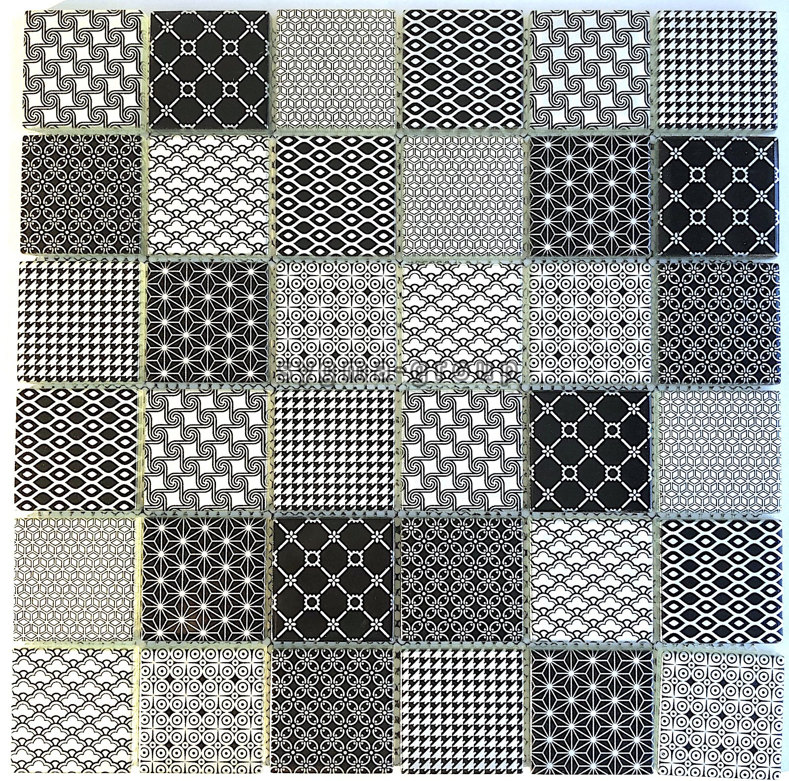 - Black Pattern Glass Tile Wall Backsplash Kitchen And Bathroom Mv