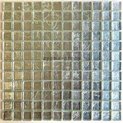 tessere di mosaico di vetro argento per parete mv-hedra-argent