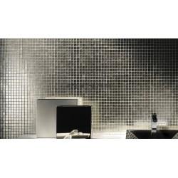 Silber Glas Mosaikfliese für die Wand mv-hedra-argent