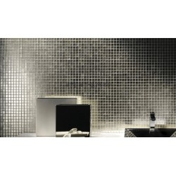 silver glass mosaic tile for wall mv-hedra-argent