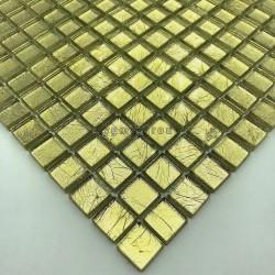 Mosaikfliese Glasblatt Goldfarbe für Wand mv-hedra-or