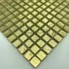 mozaïek tegel glas blad gouden kleur voor muur mv-hedra-or