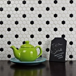telha cerâmica hexágono parede e assoalho do mosaico mp-daven