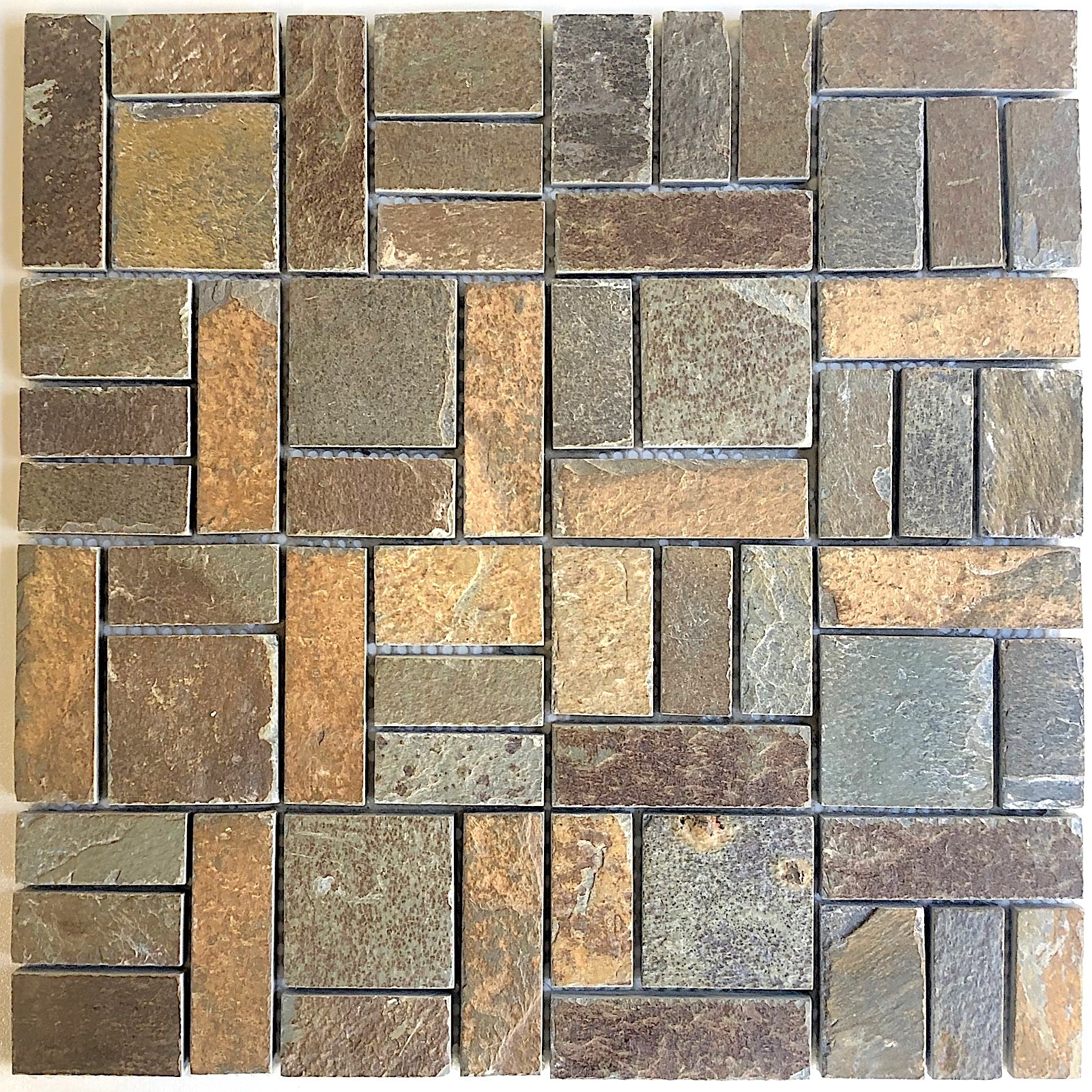 Natural Stone Slate Mosaic Tile Syg Mp