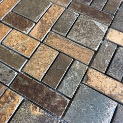 Carrelage mosaique en ardoise naturelle pierre syg-mp-kinoa