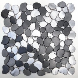 Pebble mosaic tile floor or wall walk in shower and bathroom oceo